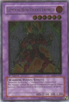 Yu-Gi-Oh Enemy of Justice Single Elemental Hero Phoenix Enforcer Ultimate