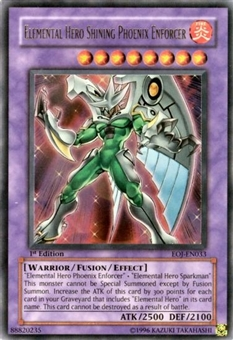 Yu-Gi-Oh Enemy of Justice Single Elemental Hero Shining Phoenix Enforcer Ultra