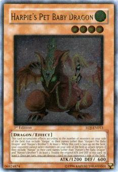 Yu-Gi-Oh Enemy of Justice Single Harpie's Pet Baby Dragon Ultimate Rare