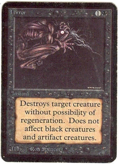 Magic the Gathering Alpha Single Terror MODERATE PLAY (VG/EX)