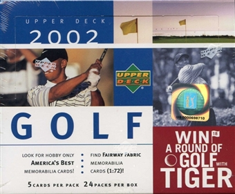 2002 Upper Deck Golf Hobby Box