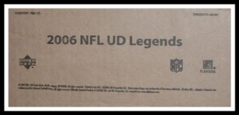 2006 Upper Deck Legends Football Hobby 16-Box Case