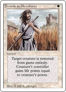 Magic the Gathering 3rd Ed (Revised) Single Swords to Plowshares - MODERATE PLAY (MP)