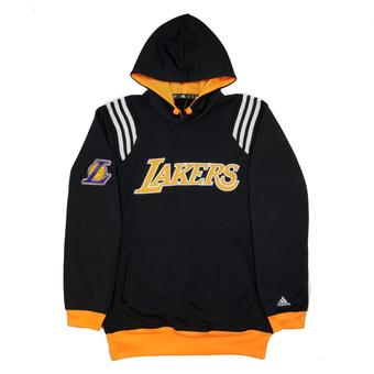 Los Angeles Lakers Adidas Black Fleece Pullover Hoodie (Adult L)