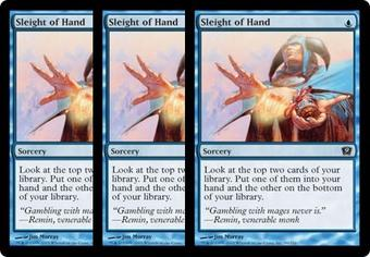 Magic the Gathering 9th Edition 3x LOT Sleight of Hand Foil - SLIGHT PLAY (SP)