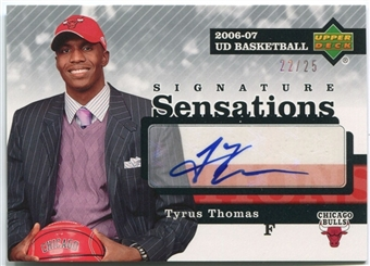 2006/07 Upper Deck Signature Sensations #TT Tyrus Thomas 22/25