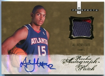 2007/08 Fleer Hot Prospects #127 Al Horford Rookie Autograph Patch /399