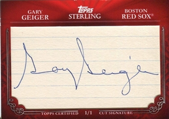 2010 Topps Sterling Cut Signatures #MPS288 Gary Geiger 1/1