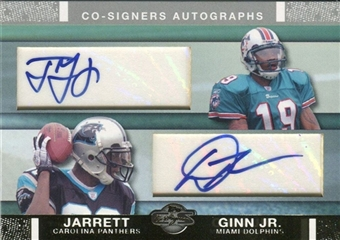2007 Topps Co-Signers Rookie Autographs Gold #GJ Ted Ginn Dwayne Jarrett 2/10
