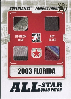 2009-10 ITG Superlative All Star Quad Patch Lidstrom Roy Jagr Blake Toronto 1/1