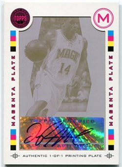 2005/06 Topps First Row Signature Dish Press Plates Magenta Jameer Nelson 1/1