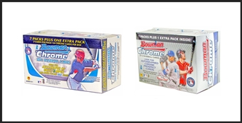 COMBO DEAL -  Bowman Chrome Baseball Blaster Boxes (2011 and 2012 Bowman Chrome)
