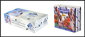 COMBO DEAL - 2012/13 Basketball Hobby Boxes (UD SP Authentic, Panini Contenders)