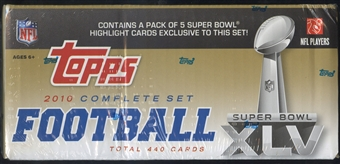 2010 Topps Factory Set Football Super Bowl XLV (Box)