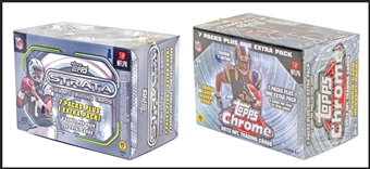 COMBO DEAL - 2013 Topps Football Blaster Boxes (2013 Topps Chrome, 2013 Topps Strata)