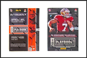 COMBO DEAL - 2013 & 2012 Panini Playbook Football Hobby Box