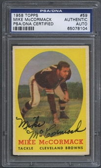 1958 Topps #59 Mike McCormack Signed Auto PSA DNA