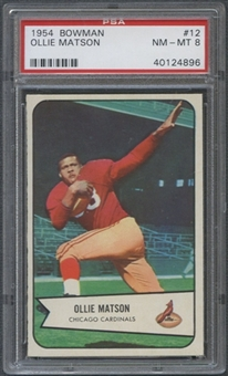 1954 Bowman Football #12 Ollie Matson PSA 8 (NM-MT) *4896
