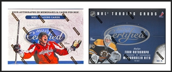 COMBO DEAL - Panini Certified Hockey Hobby Box (2012/13, 2011/12)