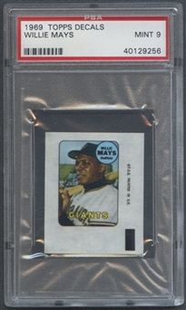 1969 Topps Baseball Decals Willie Mays PSA 9 (MINT) *9256