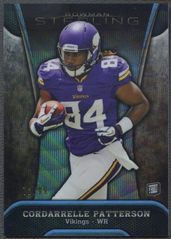 2013 Bowman Sterling #2 Cordarrelle Patterson Rookie Blue Wave Refractor #72/99