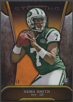 2013 Bowman Sterling #25 Geno Smith Rookie Gold Refractor #10/50