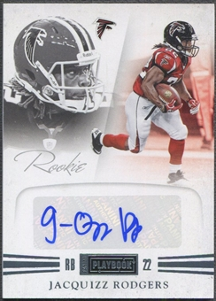 2011 Panini Playbook #69 Jacquizz Rodgers Platinum Rookie Auto #18/25