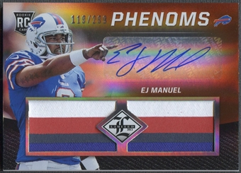 2013 Limited #209 EJ Manuel Rookie Patch Auto #119/299