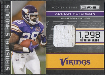 2011 Rookies and Stars #18 Adrian Peterson Statistical Standouts Materials Jersey #064/299