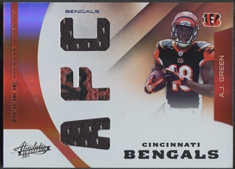 2011 Absolute Memorabilia #203 A.J. Green Rookie Premiere Materials AFC Ball Jersey #27/99