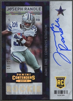 2013 Panini Contenders #215A Joseph Randle Cracked Ice Rookie Auto #15/21
