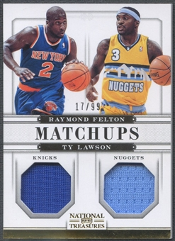 2012/13 Panini National Treasures #49 Raymond Felton & Ty Lawson Matchups Jersey #17/99