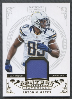2012 Panini National Treasures #78 Antonio Gates Century Material Patch #19/25