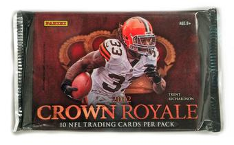 2012 Panini Crown Royale Football Retail Pack (Lot of 24)