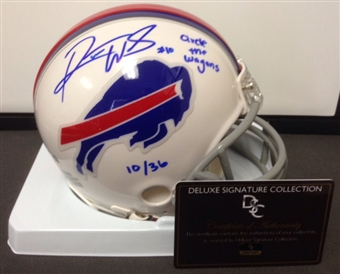 "Robert Woods Autographed Buffalo Bills Mini Helmet ""Circle The Wagons"" #10/36 (DSC COA)"