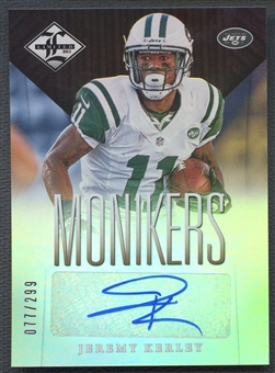 2013 Limited #69 Jeremy Kerley Monikers Silver Auto #077/299
