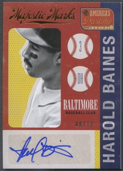 2013 Panini America's Pastime #5 Harold Baines Majestic Marks Gold Auto #08/10