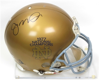 Joe Montana Autographed Notre Dame Fighting Irish Full Size Proline Helmet #4/16 (JSA)