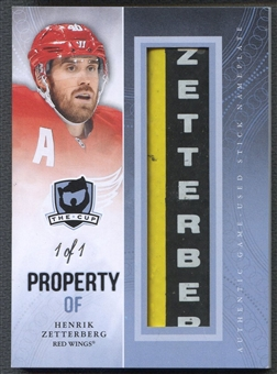 2011/12 The Cup #POFHZ Henrik Zetterberg Property Of Stick Nameplate #1/1