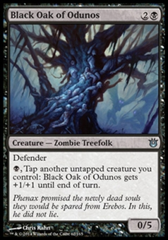 Magic the Gathering Born of the Gods Single Black Oak of Odunos Foil NEAR MINT (NM)