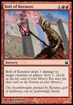 Magic the Gathering Born of the Gods Single Bolt of Keranos Foil NEAR MINT (NM)