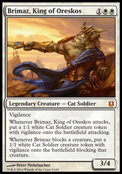 Magic the Gathering Born of the Gods Single Brimaz, King of Oreskos NEAR MINT (NM)