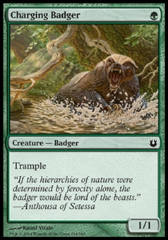 Magic the Gathering Born of the Gods Single Charging Badger Foil NEAR MINT (NM)