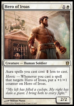 Magic the Gathering Born of the Gods Single Hero of Iroas Foil NEAR MINT (NM)