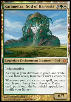 Magic the Gathering Born of the Gods Single Karametra, God of Harvests NEAR MINT (NM)