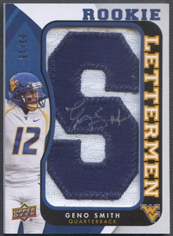 "2013 Upper Deck #RLGS Geno Smith Rookie Lettermen ""S"" Patch Auto #03/15"