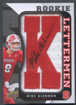 "2013 Upper Deck #RLMG Mike Glennon Rookie Lettermen ""K"" Patch Auto #11/50"
