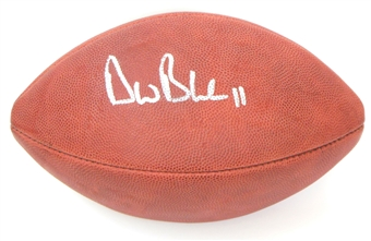 Drew Bledsoe Autographed New England Patriots Wilson Official NFL Game Ball (Scoreboard