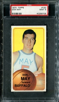 1970/71 Topps Basketball #152 Don May PSA 9 (MINT) *8709
