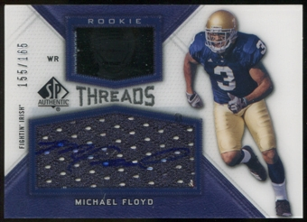 2012 Upper Deck SP Authentic Rookie Threads Autographs #RTMF Michael Floyd Autograph /165